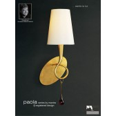 Paola Switched Wall Lamp 1 Light Gold Leaf
