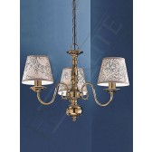 Franklite Delft Ceiling Light - 3 Light, Polished Brass, Shades sold Separately