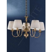 Franklite Delft Ceiling Light - 5 Light, Polished Brass, Shades sold Separately