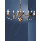 Franklite Delft Ceiling Light - 8 light, Polished Brass