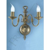 Franklite Delft Wall Bracket (Large) - 2 Light, Polished Brass, Shades sold Separately