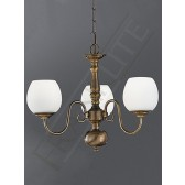 Franklite Halle Ceiling Light - 3 Light, Bronzed Brass