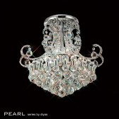 Diyas Pearl Ceiling 9 Light Round Polished Chrome/Crystal