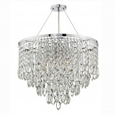 Pescara 5 Light Round Pendant Decorative Crystal