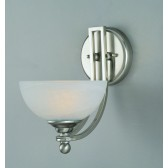 Impex Texas Wall Light Satin Nickel - 1 Light