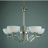 Impex Texas Ceiling Light - 5 Light, Satin Nickel