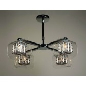 Impex Avignon Ceiling - 4 Light, Polished Chrome
