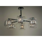 Impex Avignon Ceiling Light Chrome - 6 Light