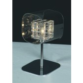 Impex Avignon Table Lamp Chrome - 1 Light
