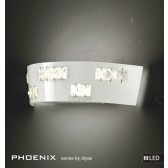 Diyas Phoenix Wall Lamp 6X0.5W LED Light White/Crystal 3600K