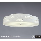Diyas Phoenix Ceiling 36X0.5W LED Light White/Crystal 3600K