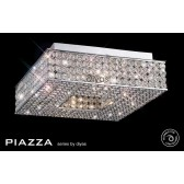 Diyas Piazza Ceiling 4 Light Polished Chrome/Crystal