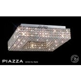 Diyas Piazza Ceiling 8 Light Polished Chrome/Crystal