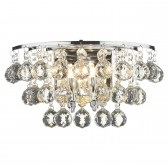 Pluto 2 Light Wall Light - Polished Chrome