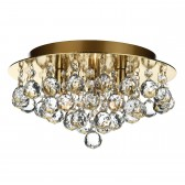 Pluto Ceiling Light - 3 Light Flush - Polished brass