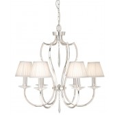 Elstead PM6 PN Pimlico 6 - Light Chandelier Polished Nickel
