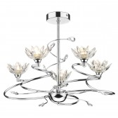 Poppy 5 Light Ceiling Light - Polished Chrome