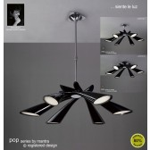Pop Pendant 6 Light Black