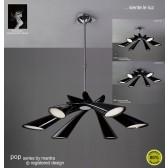 Pop Pendant 6 Light Black