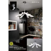 Pop Pendant 6 Light White