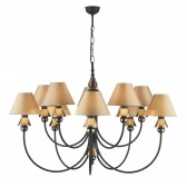 Spearhead Ceiling Light - 10 Light Bronze