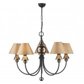 Spearhead Ceiling Light - 5 Light Bronze