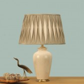 Interiors1900 Ryhall Small Table Lamp Ivory, Beige Pinch Pleated Shade