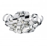 Rawley 5 Light Flush 60CM Polished Chrome