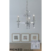 Diyas Renzo Pendant 3 Light Polished Chrome/Crystal