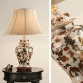 Interiors1900 Leaf Scroll with Honey Silk Shade