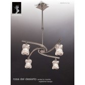Rosa Del Desierto Telescopic Pendant 4 Lights Satin Nickel