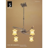 Rosa Del Desierto Telescopic Pendant 4 Lights Antique Brass