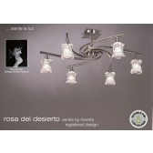Rosa Del Desierto Semi Ceiling 6 Lights Satin Nickel