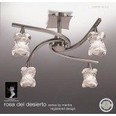 Rosa Del Desierto Semi Ceiling 4 Lights Satin Nickel
