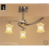 Rosa Del Desierto Semi Ceiling 3 Lights Antique Brass