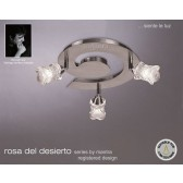Rosa Del Desierto Ceiling 3L Spot Light Round Satin Nickel Adjustable Heads