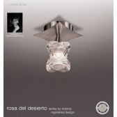 Rosa Del Desierto Fixed Ceiling 1 Light Satin Nickel