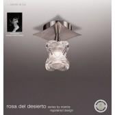 Rosa Del Desierto Fixed Ceiling 1 Light Satin Nickel