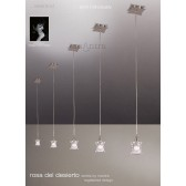 Rosa Del Desierto Pendant 1 Light (Adjustable) Satin Nickel