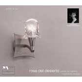 Rosa Del Desierto Switched Wall Lamp 1 Light Satin Nickel