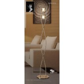 Rosa Del Desierto Floor Lamp 2 Lights Antique Brass