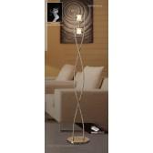 Rosa Del Desierto Floor Lamp 2 Lights Antique Brass