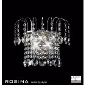 Diyas Rosina Wall Lamp 2 Light Polished Chrome/Crystal Switched