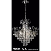 Diyas Rosina Pendant 8 Light Polished Chrome/Crystal
