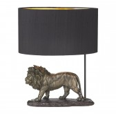 Royal Table Lamp Bronze complete with Black Silk Shade