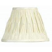 Oaks Lighting S601/10 IV Ivory Sutlej Silk Shade