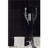 Diyas Santo Wall Lamp 1 Light Polished Chrome