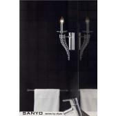 Diyas Santo Wall Lamp 1 Light Polished Chrome