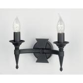 Elstead SAX2 BLK Saxon 2 - Light Wall Light Black