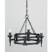 Elstead SAX3 BLK Saxon 3 - Light Chandelier Black
